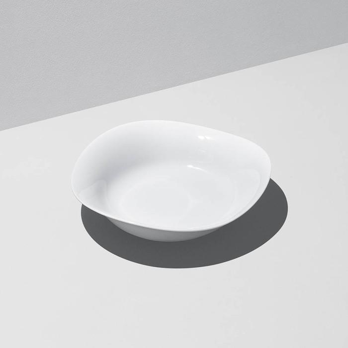 (複製)北歐櫥窗 Georg Jensen|Cobra 波浪白瓷碗 (深、小)