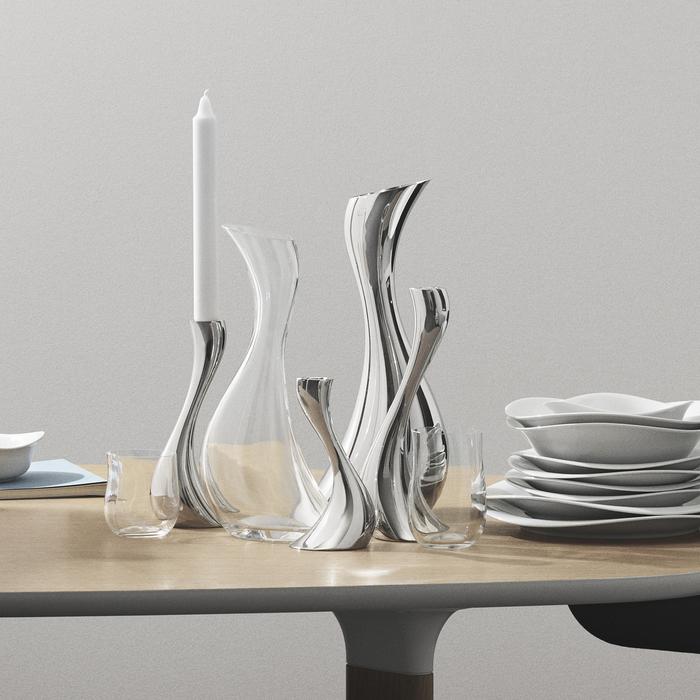(複製)北歐櫥窗 Georg Jensen|Cobra 波浪白瓷碗(深、大)