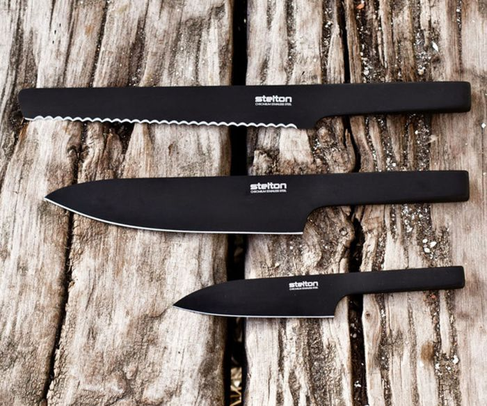 北歐櫥窗 Stelton|Viking英雄黑刀-調理刀