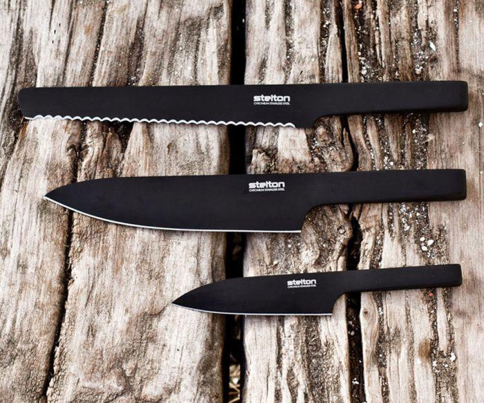 北歐櫥窗 Stelton|Viking英雄黑刀-麵包刀
