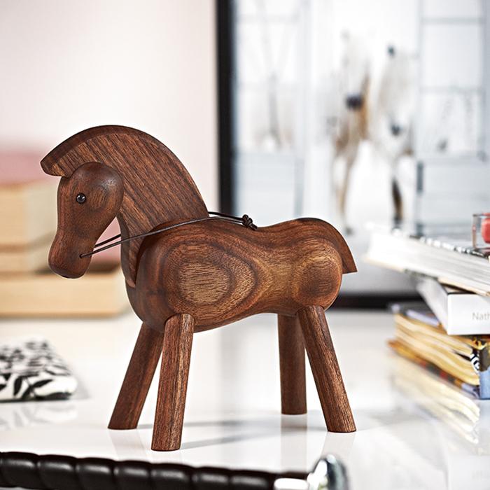 北歐櫥窗 Kay Bojesen|木頭小馬(深)