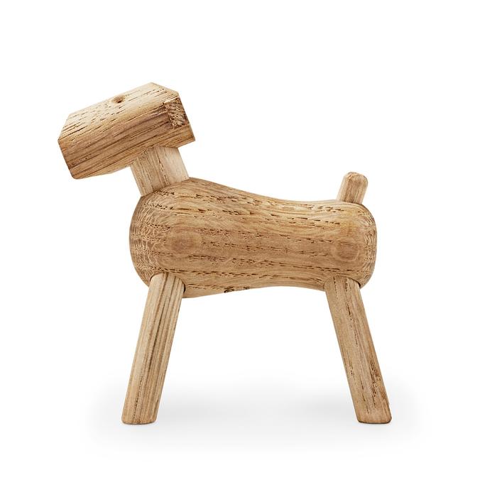 北歐櫥窗 Kay Bojesen|木頭提姆小狗(白橡木)