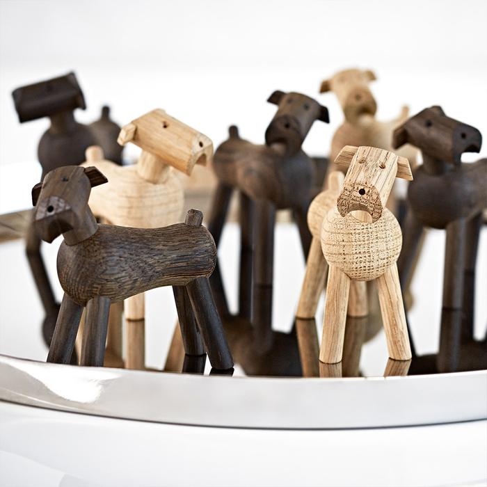 北歐櫥窗 Kay Bojesen|木頭提姆小狗(煙燻橡木)
