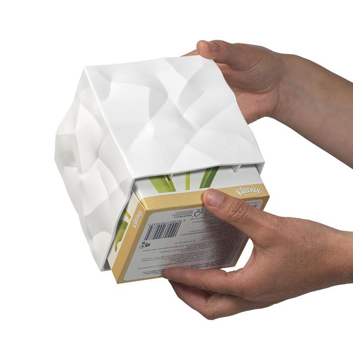 北歐櫥窗 Essey|Wipy II 皺皺面紙盒(淨白)