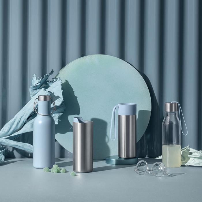北歐櫥窗 Eva Solo|輕旅隨型保溫瓶(雲朵藍、350 ML)