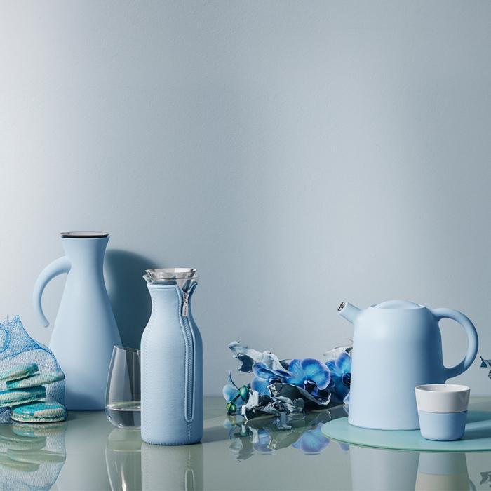 北歐櫥窗 Eva Solo|防側漏 彩漾水瓶(雲朵藍、1 L)
