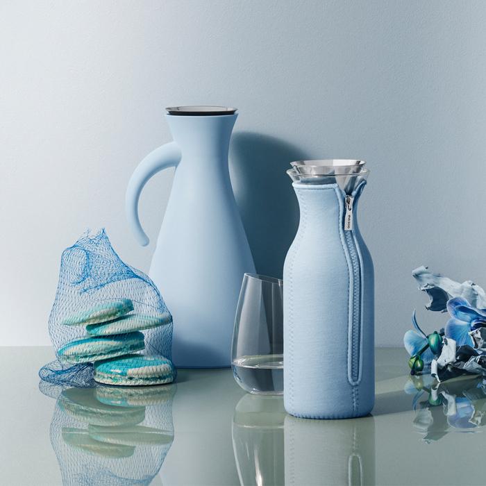 北歐櫥窗 Eva Solo|防側漏 天使保溫瓶(高、雲朵藍、1 L)