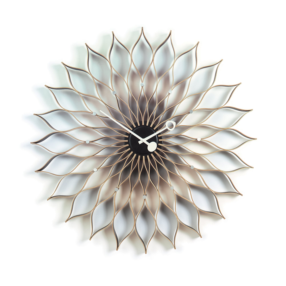 北歐櫥窗 Vitra|Sunflower Clock 旭日花掛鐘(原木)