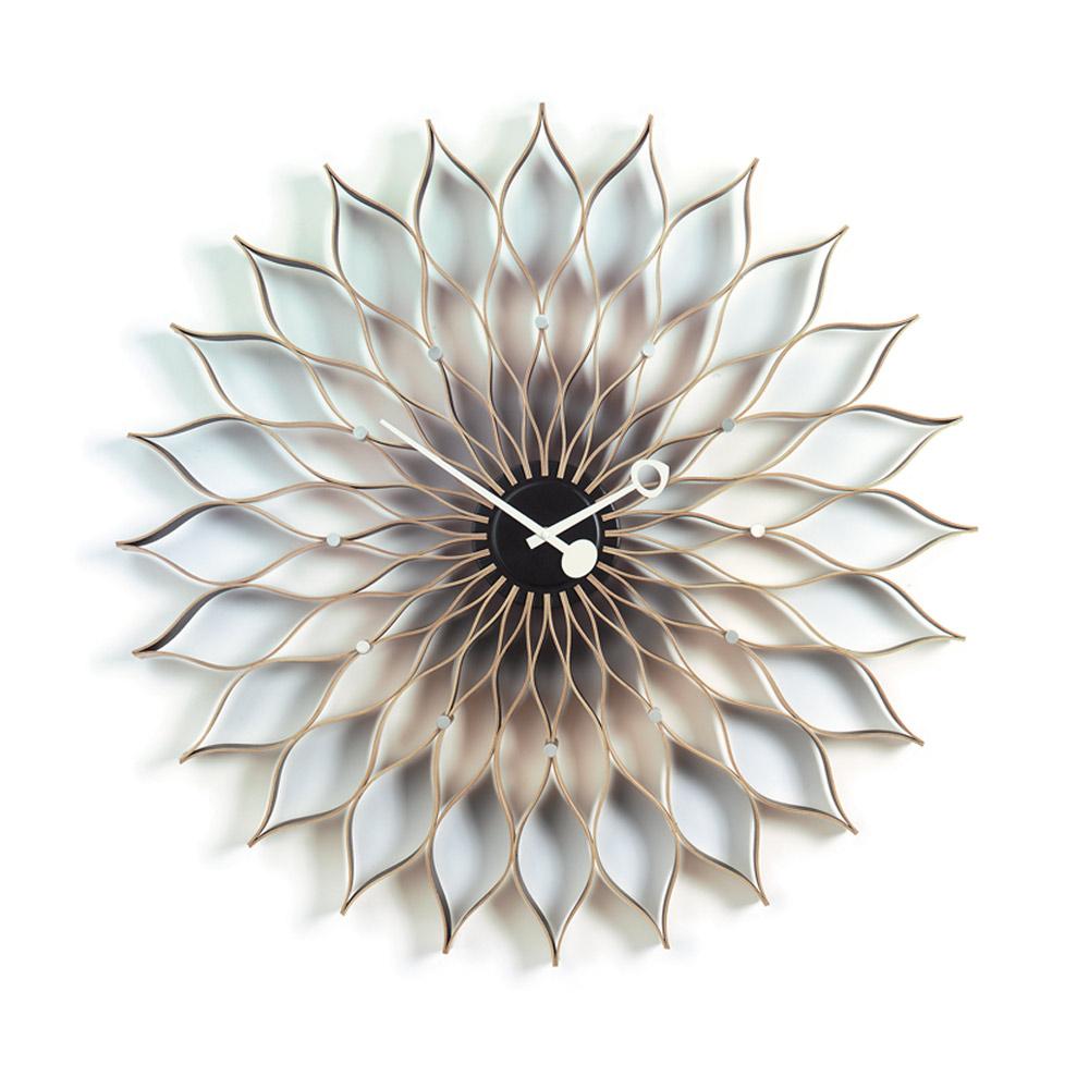 北歐櫥窗 Vitra Sunflower Clock 旭日花掛鐘(原木)