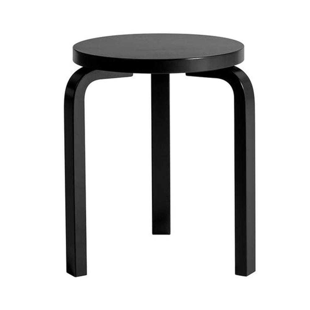 北歐櫥窗 Artek|Stool 60 三腳圓凳(全黑)