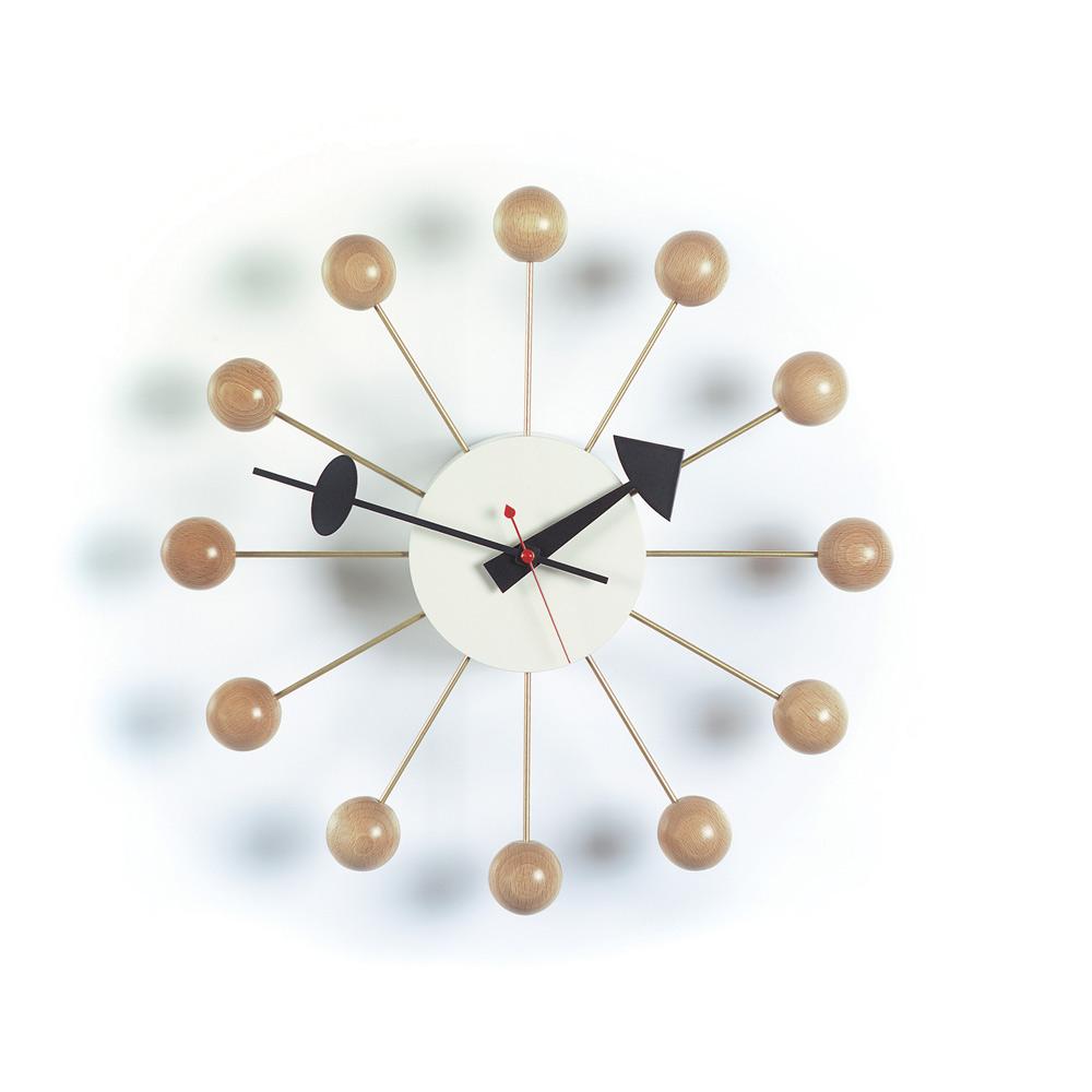 北歐櫥窗 Vitra|Ball Clock 球星掛鐘(原木色)