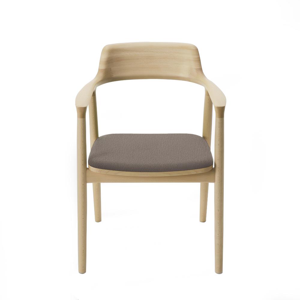 北歐櫥窗 maruni|Hiroshima 廣島扶手椅(灰色皮革)