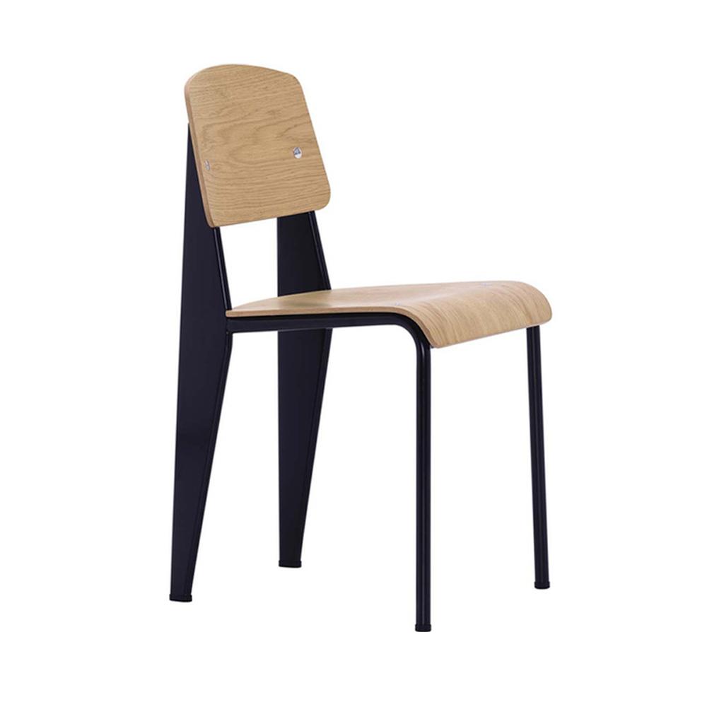 北歐櫥窗 Vitra|Standard 單椅的標準(淺橡木x黑鋼腳)