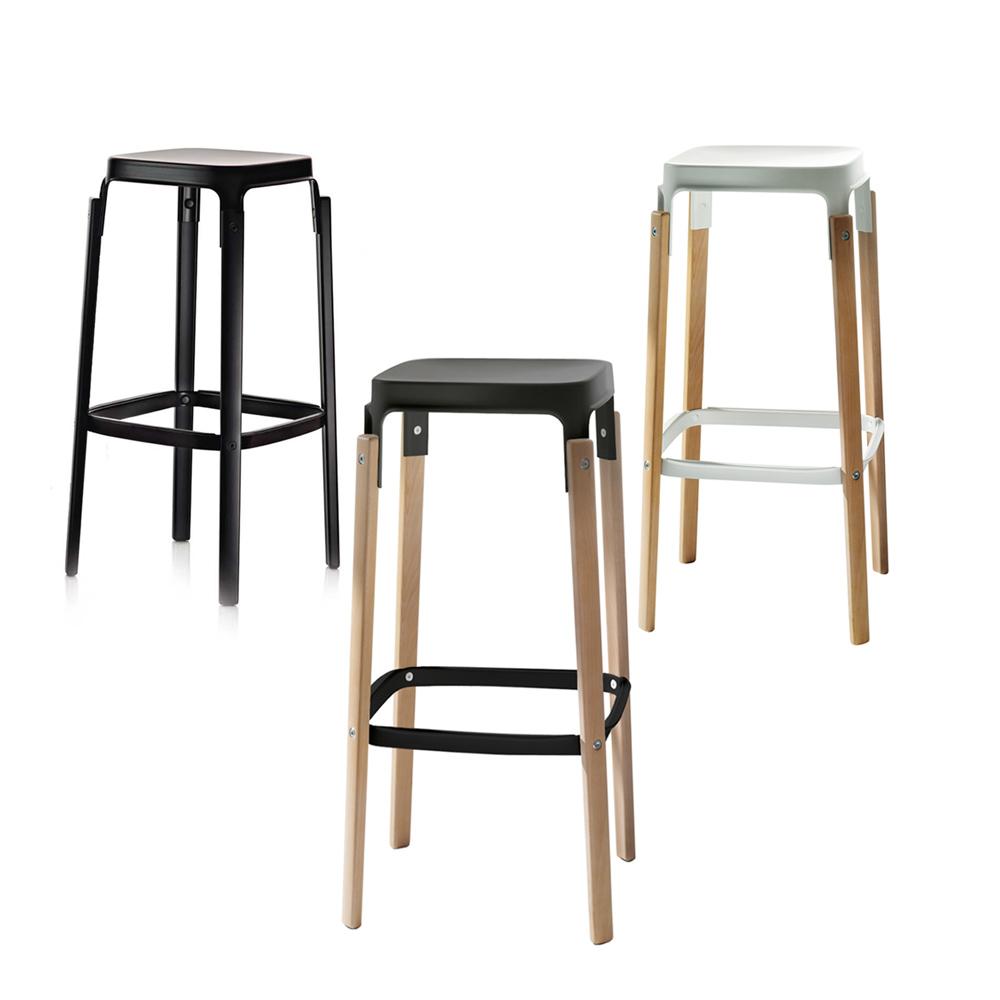 北歐櫥窗 Magis|Steelwood Stool 高腳凳(中島)
