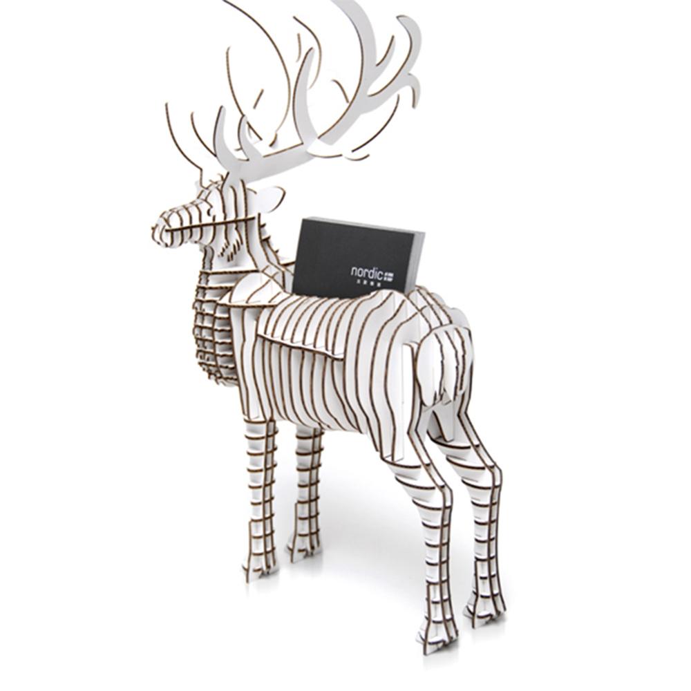北歐櫥窗 Tenonart|Adonis公鹿名片、手機座版(白、未組裝)