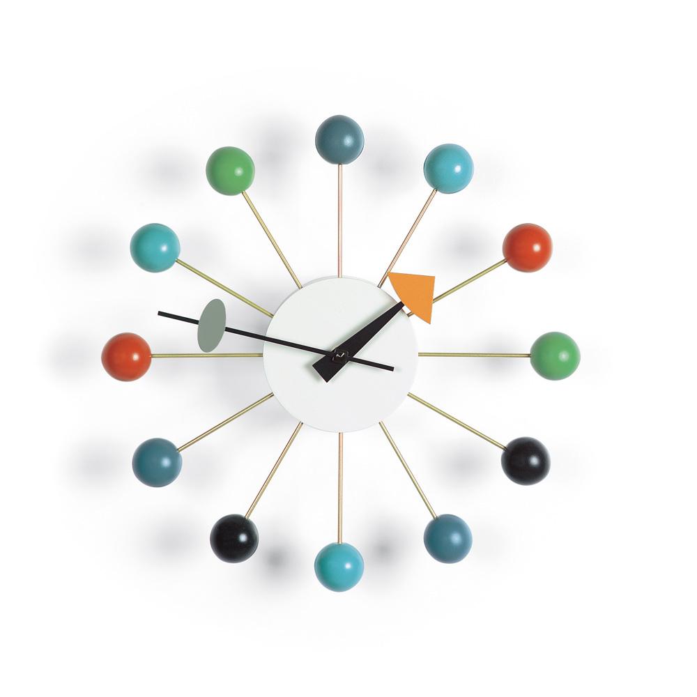 北歐櫥窗 Vitra|Ball Clock 球星掛鐘(彩色)