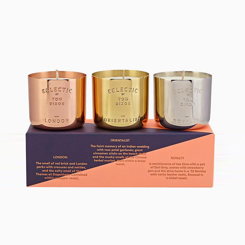 北歐櫥窗 Tom Dixon|Scent Candle 英倫香氛燭盃(三入禮盒)