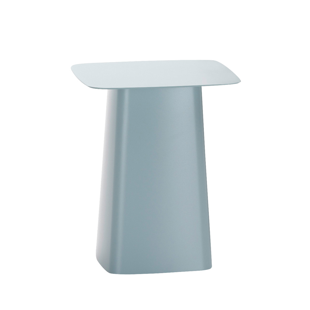 北歐櫥窗 Vitra Metal Side Table Outdoor 圓角小邊桌(冰灰藍、S)