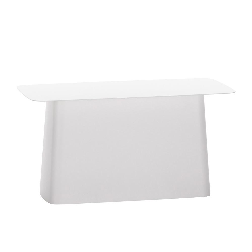 北歐櫥窗 Vitra|Metal Side Table Outdoor 圓角小邊桌(柔白、L)