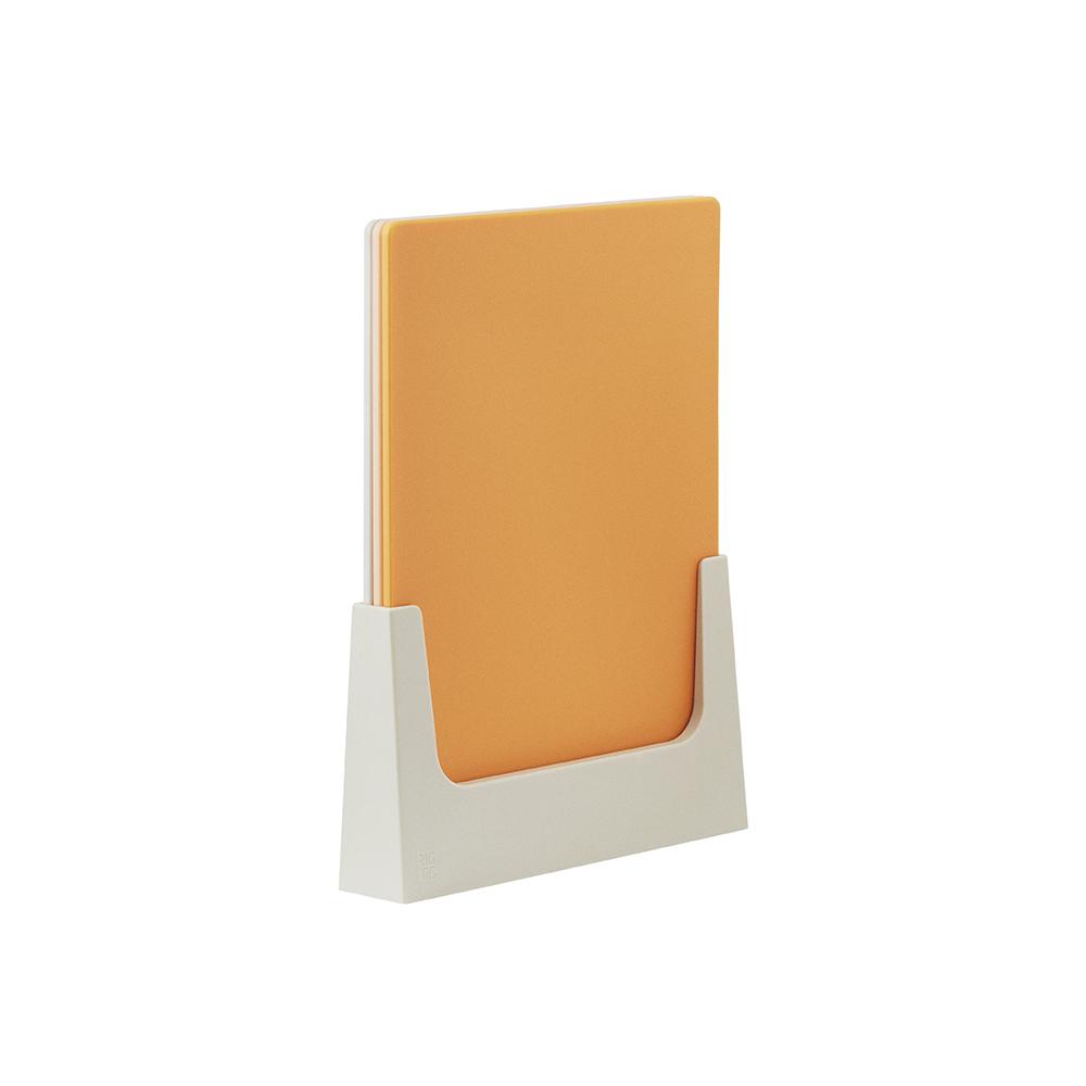 北歐櫥窗 RIG-TIG 立正集合砧板組(橘、三入一組)