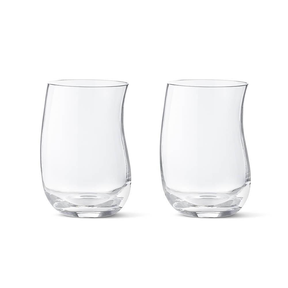 北歐櫥窗 Georg Jensen|Cobra 玻璃波浪杯 (大,2入)