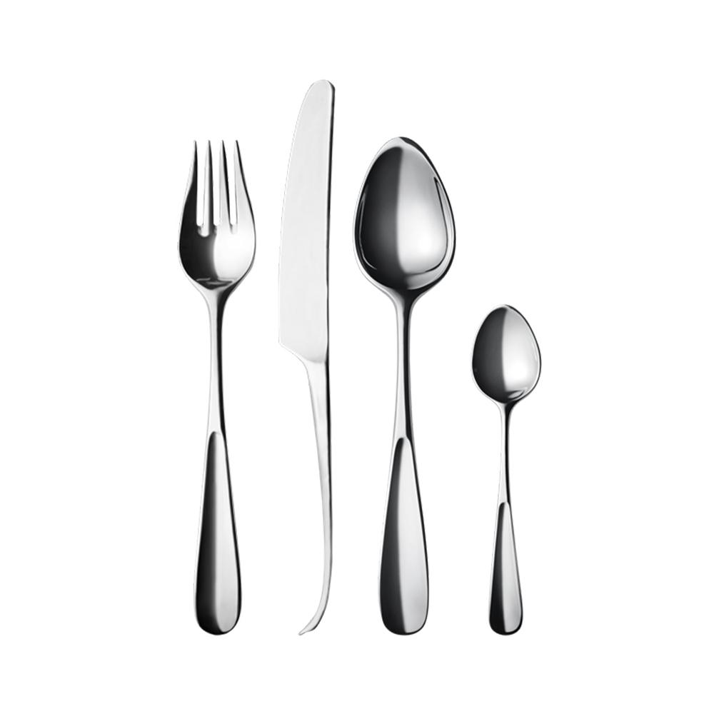 北歐櫥窗 Georg Jensen|Vivianna 朵蘭四件餐具禮盒組(鏡面)