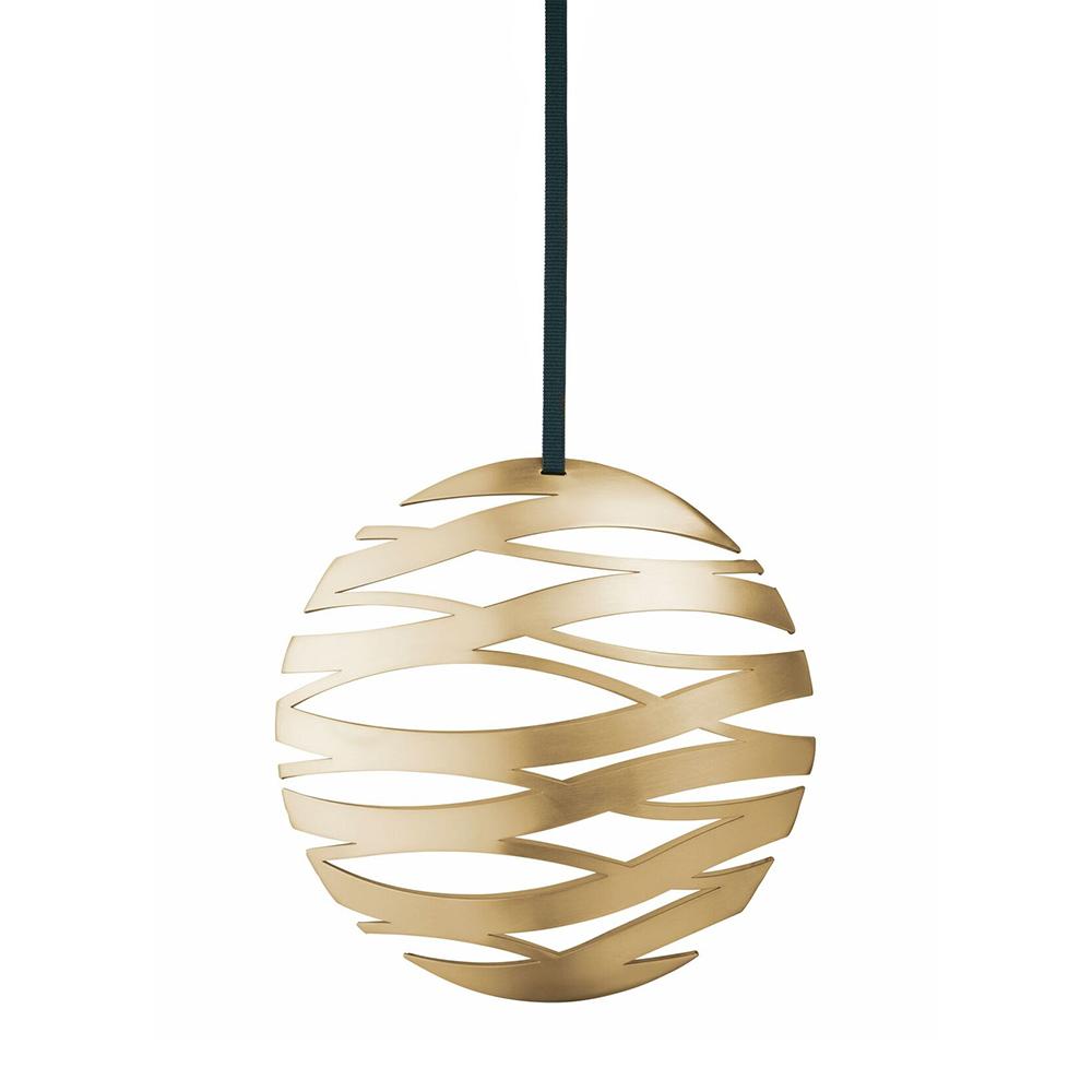 北歐櫥窗 Stelton|Tangle 聖誕吊飾(金球、大)