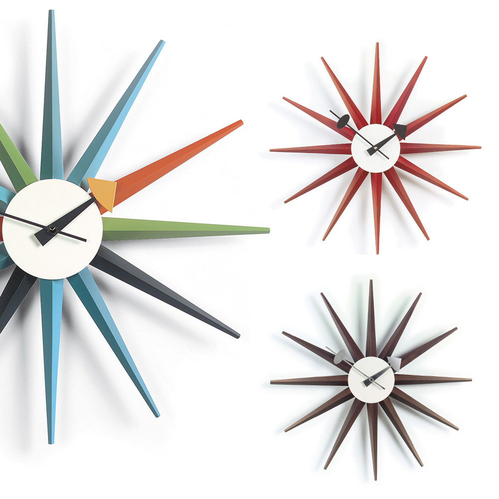 北歐櫥窗 Vitra|Sunburst Clock 豔陽綻放掛鐘