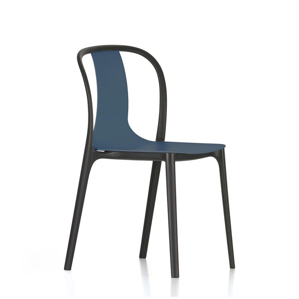 北歐櫥窗 Vitra|Belleville Side Chair 美麗城單椅(深海藍)