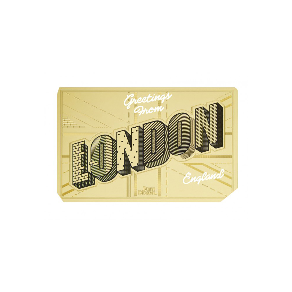 北歐櫥窗 Tom Dixon|Bookworm Postcard 啃書虫書籤【墨色金箋】