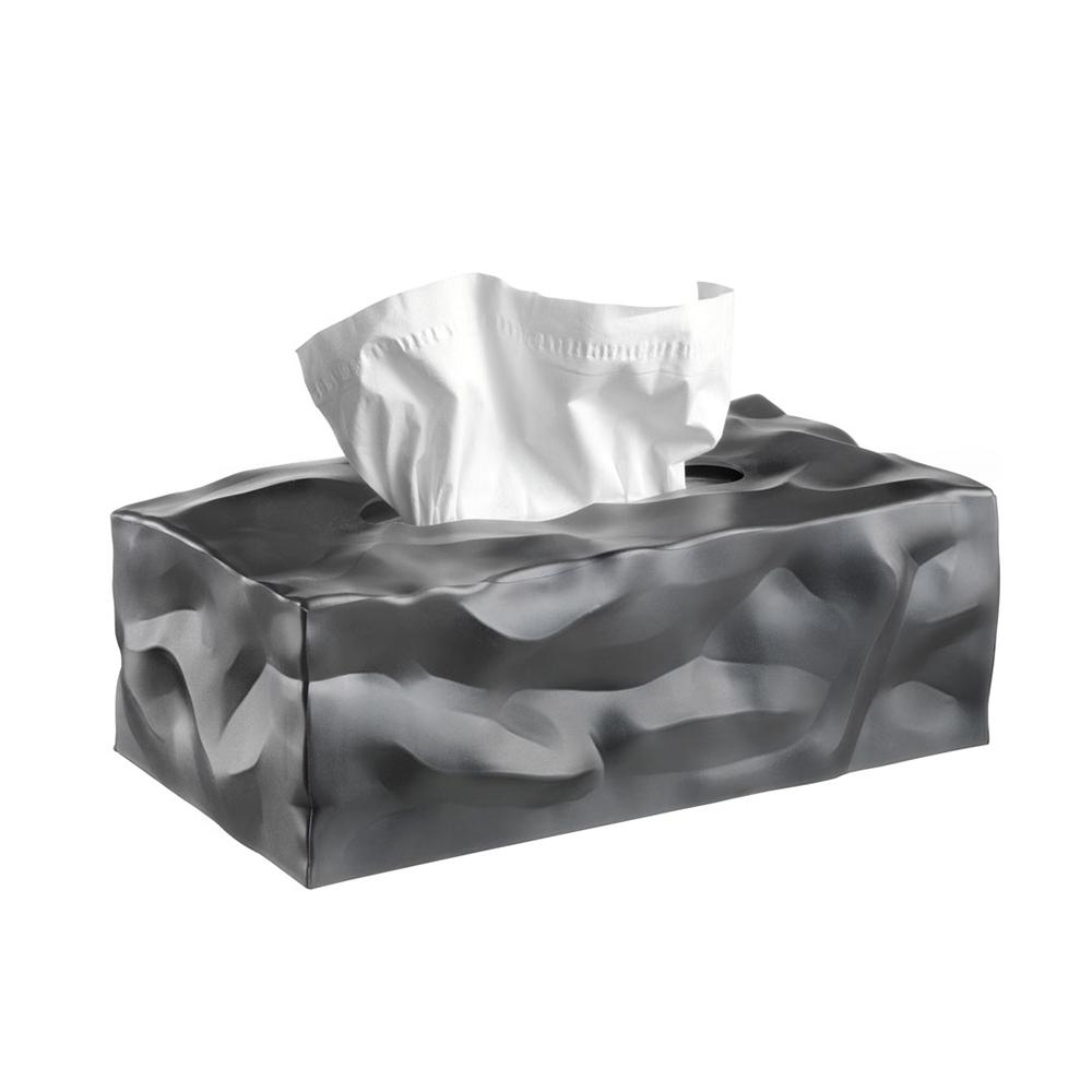 北歐櫥窗 Essey|Wipy II 皺皺面紙盒(墨灰)