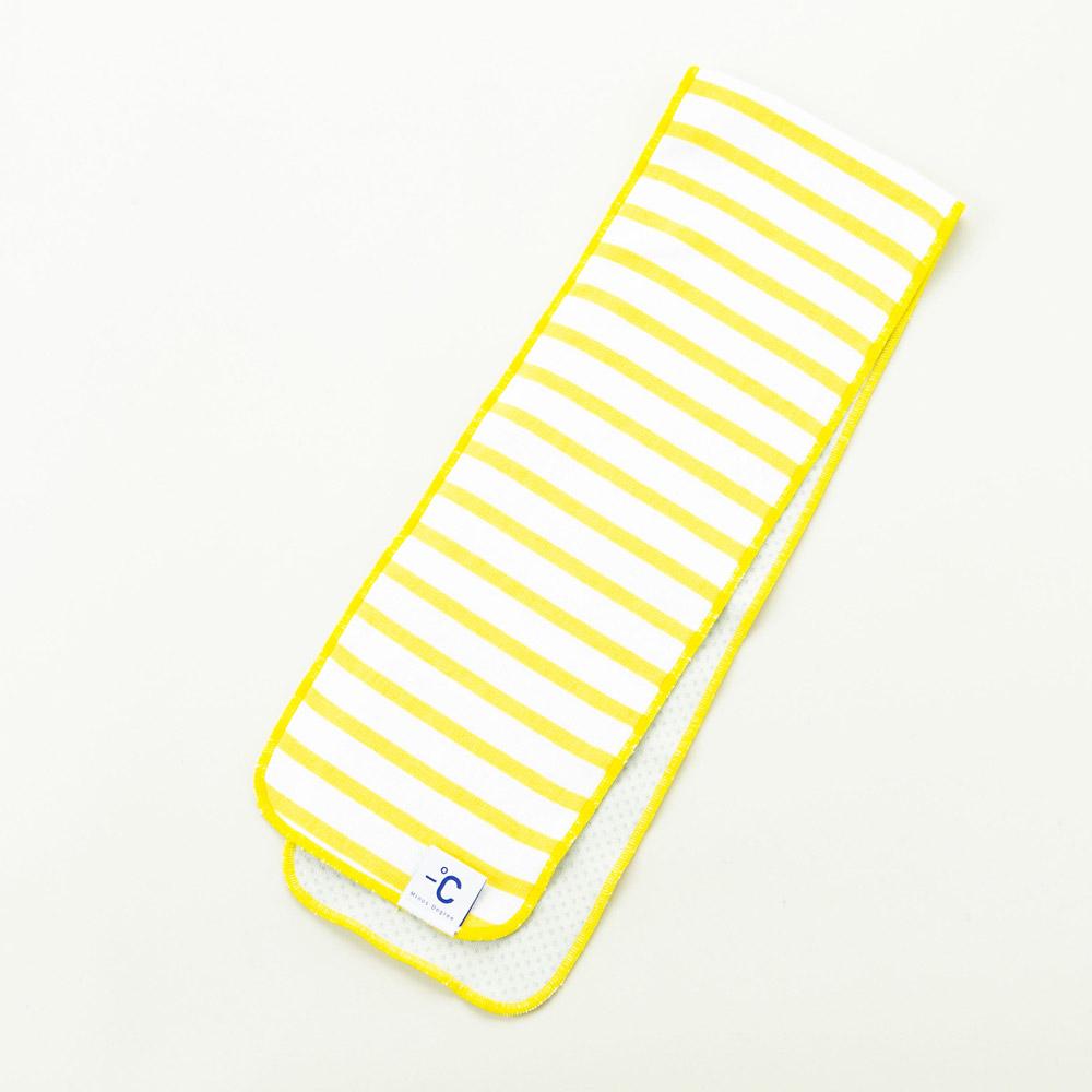 北歐櫥窗 100%|Minus Degree Soft Sport 降溫涼感運動毛巾(條紋、鮮檸黃)