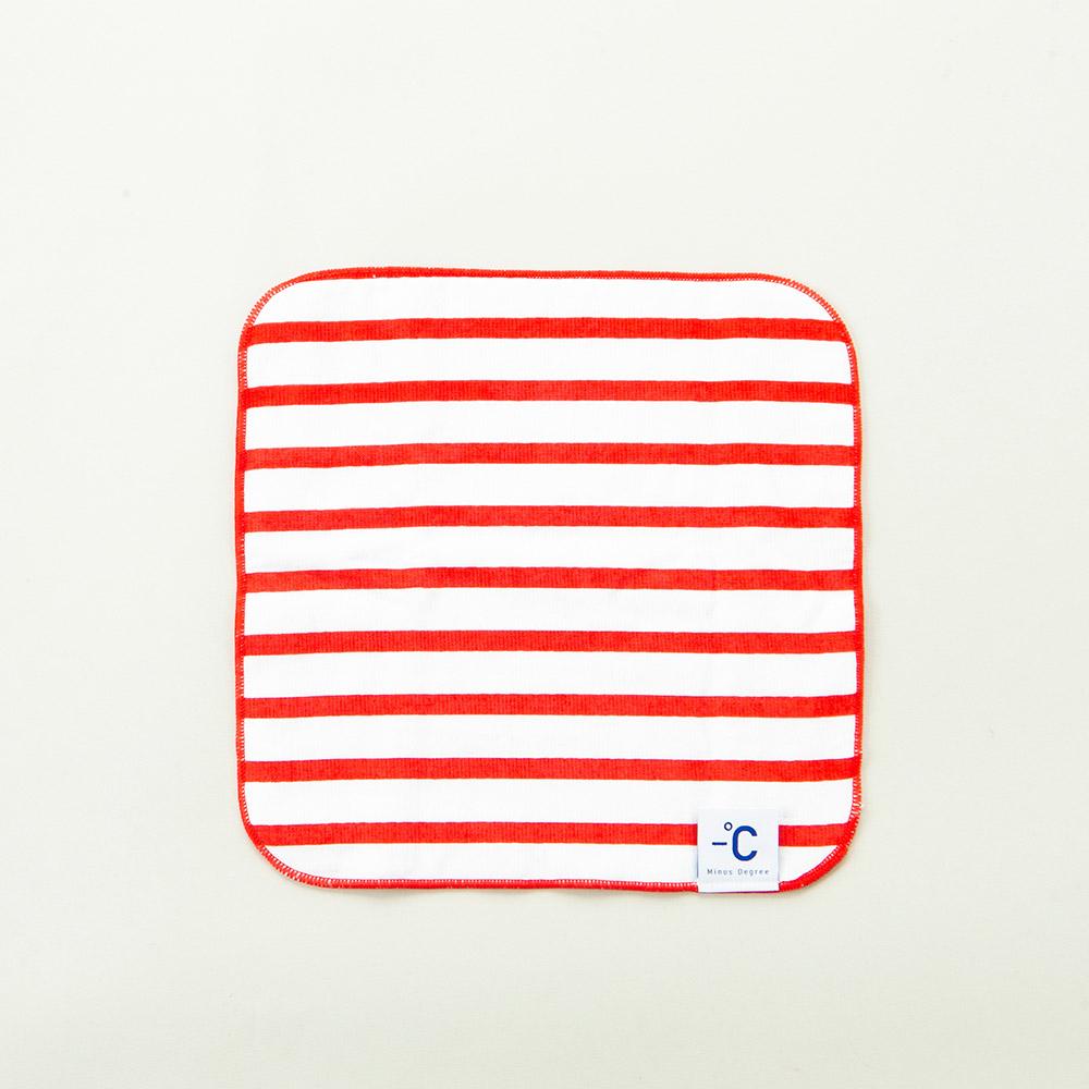 北歐櫥窗 100% Minus Degree Soft 降溫涼感手巾(條紋、鮮莓紅)