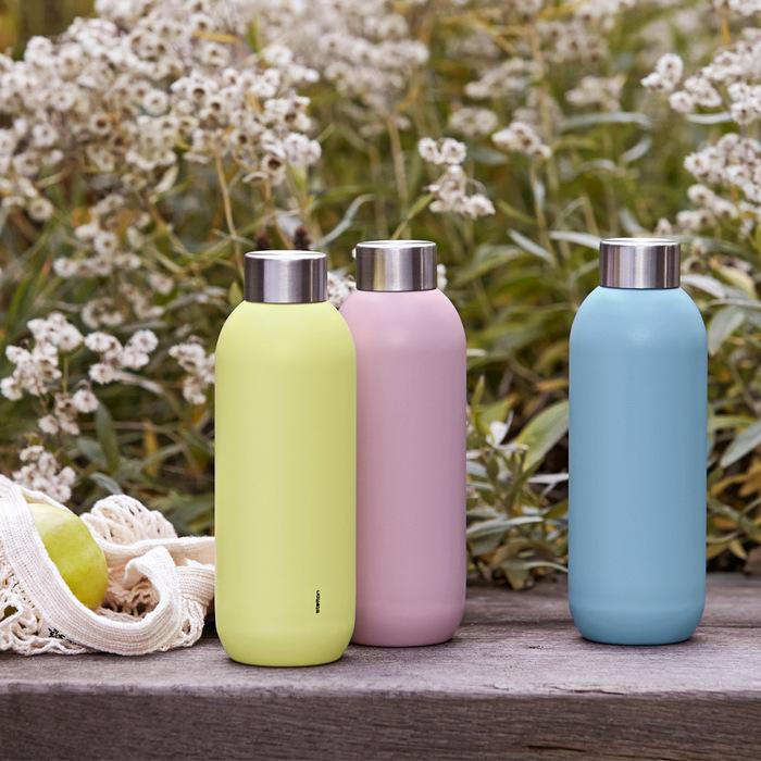 北歐櫥窗 Stelton|Keep Cool 保溫保冰隨行瓶(600 ML、薔薇粉)