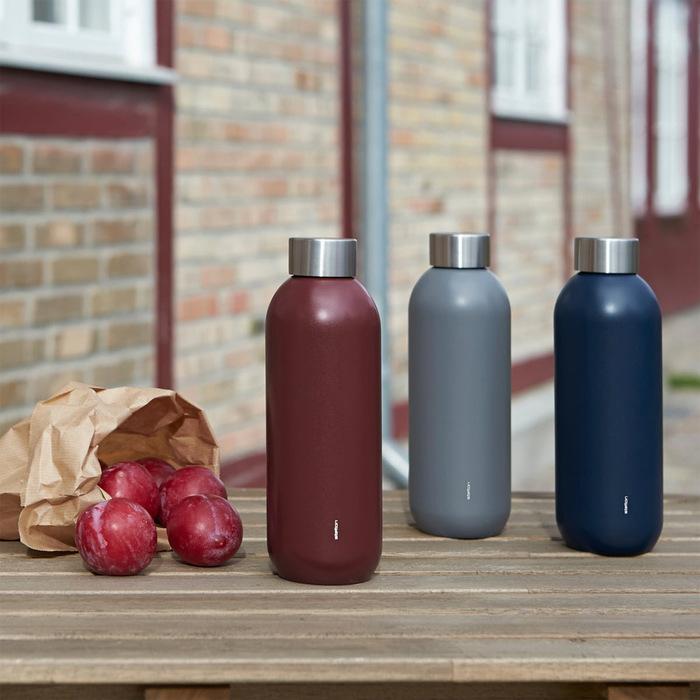 北歐櫥窗 Stelton Keep Cool 保溫保冰隨行瓶(600 ML、栗棕紅)