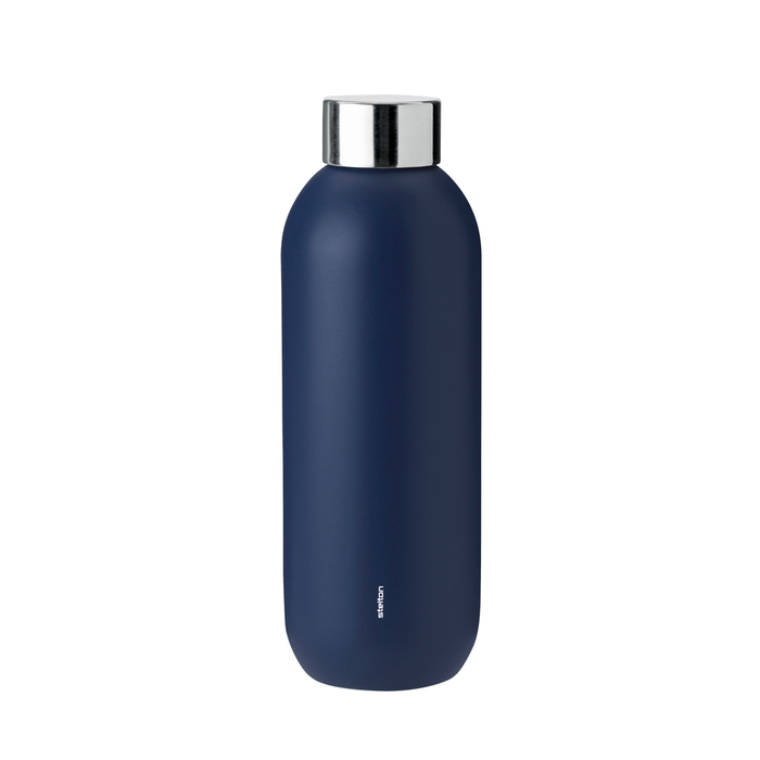 北歐櫥窗 Stelton|Keep Cool 保溫保冰隨行瓶(600 ML、午夜藍)