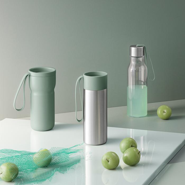 北歐櫥窗 Eva Solo|極線真空保溫瓶(湖泊綠、350 ML)
