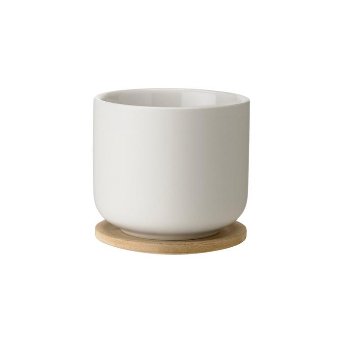 (複製)北歐櫥窗 Stelton Theo 石茶道 茶杯含杯墊(硯墨黑)