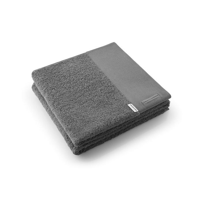 北歐櫥窗 Eva Solo|新版純棉毛巾(纖炭灰、50 x 100 cm)