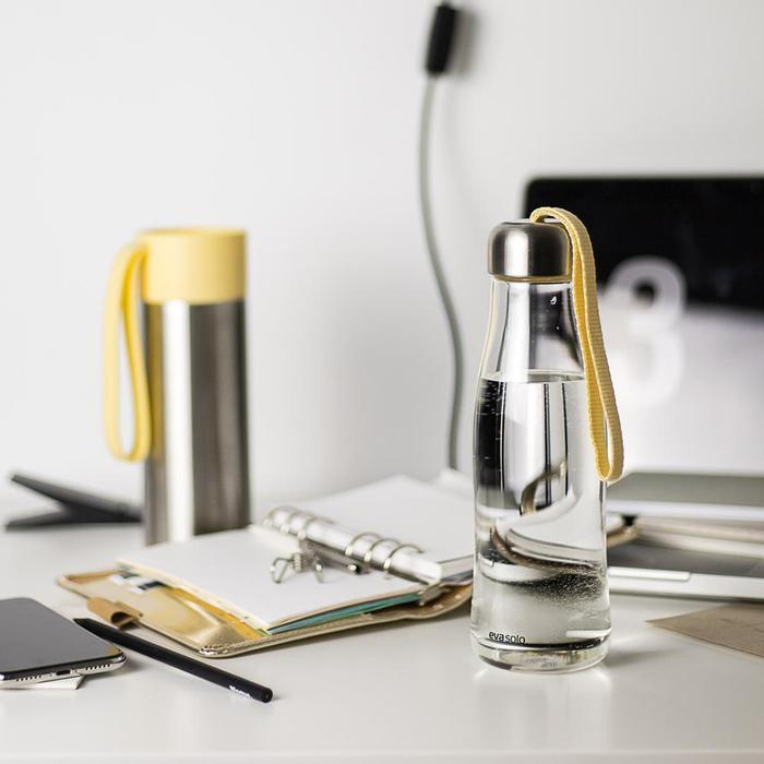 北歐櫥窗 Eva Solo Simple 玻璃隨手瓶(檸檬黃、500 ML)