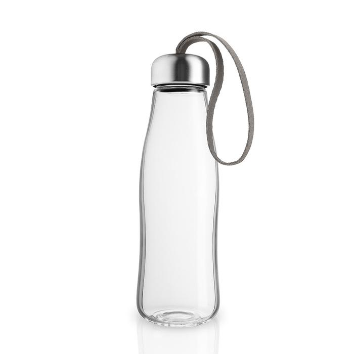 北歐櫥窗 Eva Solo Simple 玻璃隨手瓶(暖茶棕、500 ML)