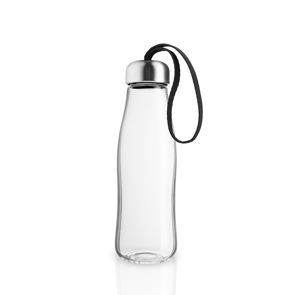 北歐櫥窗 Eva Solo|Simple 玻璃隨手瓶(山石黑、500 ML)