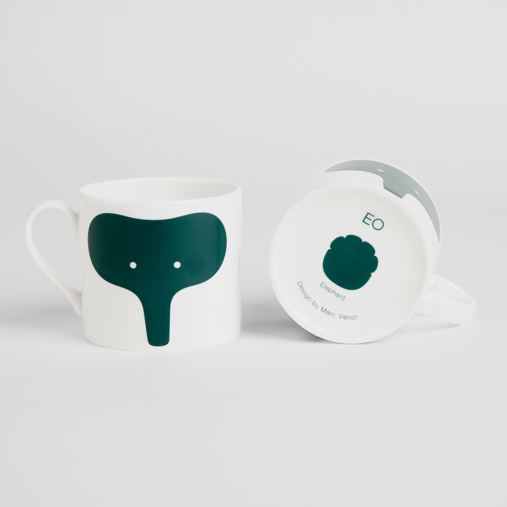 北歐櫥窗 EO Denmark|Animal Mug 動物馬克杯(大象)