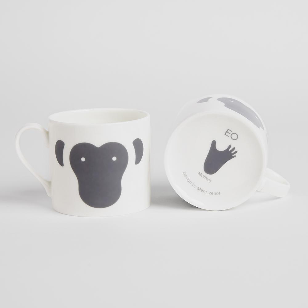 北歐櫥窗 EO Denmark|Animal Mug 動物馬克杯(猴子)