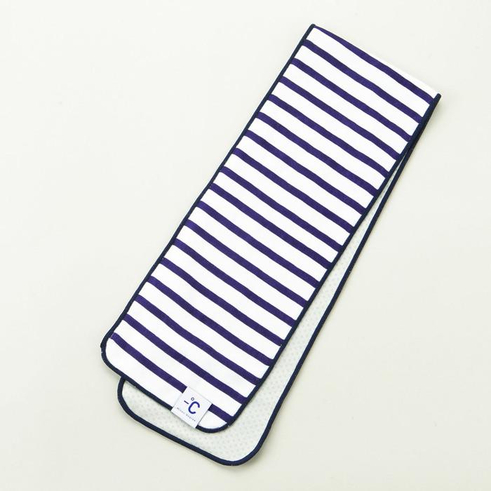 北歐櫥窗 100%|Minus Degree Soft Sport 降溫涼感運動毛巾(條紋、海軍藍)