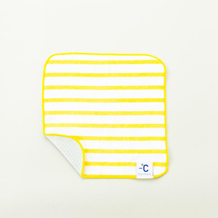 北歐櫥窗 100%|Minus Degree Soft 降溫涼感手巾(條紋、鮮檸黃)