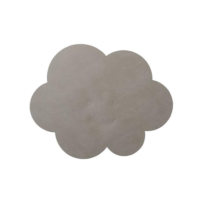 北歐櫥窗 LIND DNA|NUPO 兒童皮革餐墊(灰雲)
