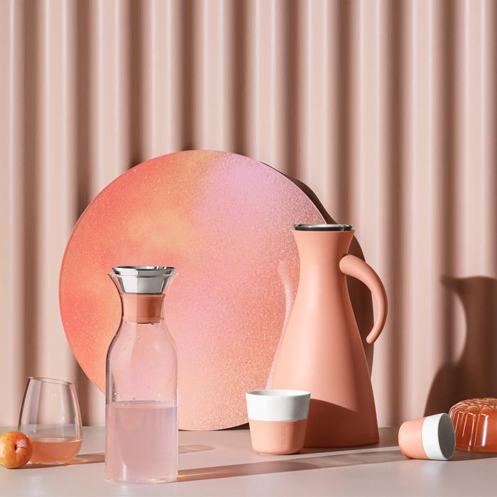 北歐櫥窗 Eva Solo|防側漏 天使保溫瓶(高、蜜瓜橙、1 L)