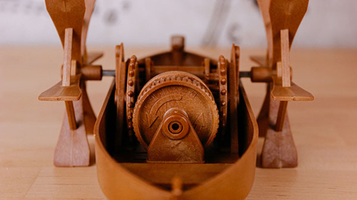 賽先生科學工廠 收藏達文西 - 槳葉船
