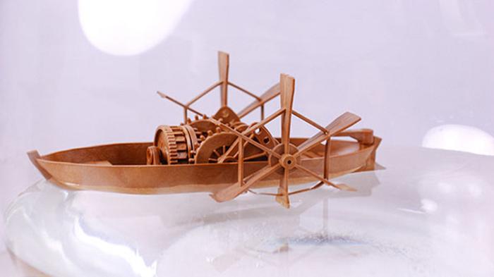 賽先生科學工廠|收藏達文西 - 槳葉船